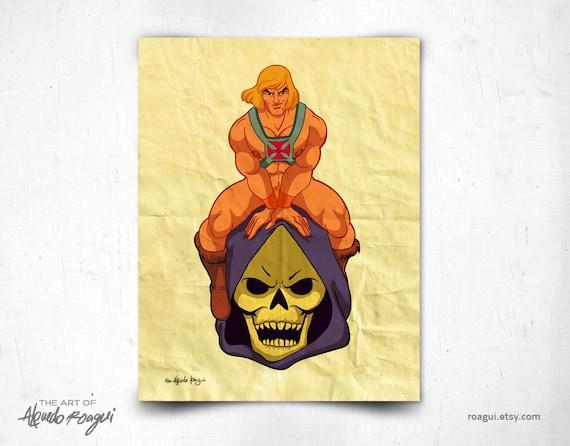 He-Man - 8x11 print / Master of my Universe - retro tv cartoon character