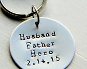 Valentines for Daddy, Daddy Valentine, Valentines Day Gift For Him, Hero Father KeyChain, Military, Gift For Army Dad Veteran, Guitar pick