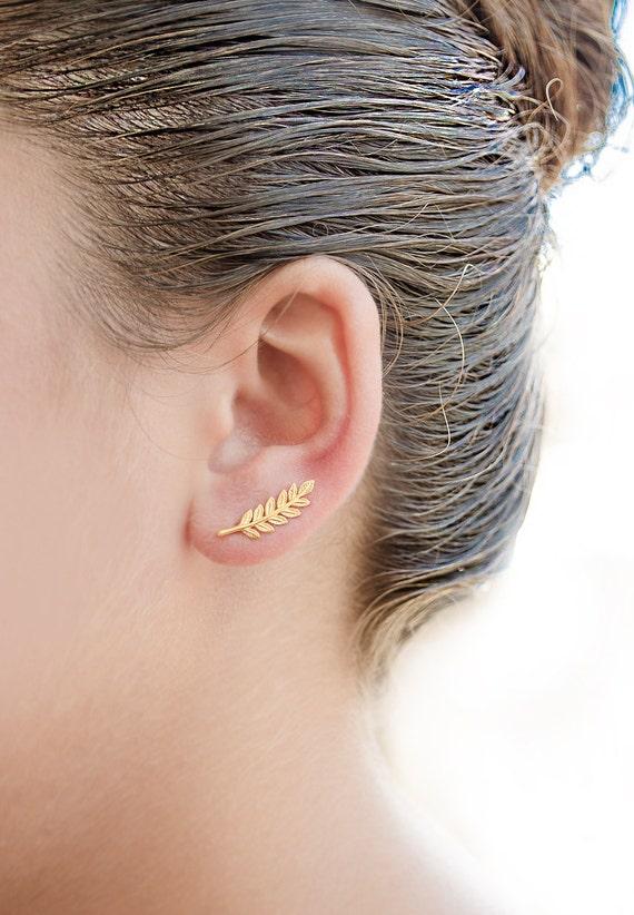 Boucle d'oreille longue lobe