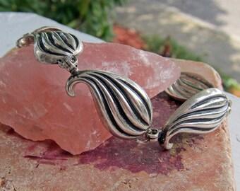 JewelArt Sterling Silver Leaf Bracelet