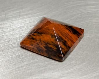 Mahogany Obsidian -- 6.67ct Pyramid Cabochon