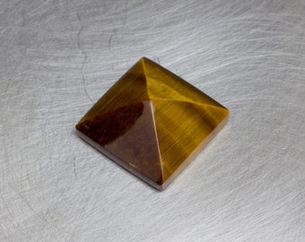 Tiger's Eye -- 8.64ct Pyramid Cabochon