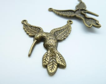 10pcs 36x30mm Antique Bronze Bird Connector Charm Pendant c3175