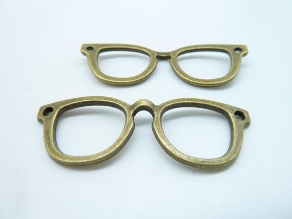 10pcs 20x57mm Antique Bronze Filigree  Eyeglasses Charms Pendant c3852