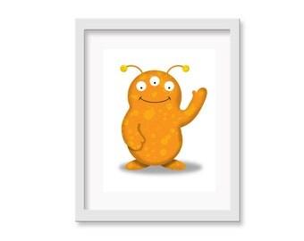 Monster / Alien Nursery Art, Nursery Decor, Kid Wall Art, Kid's Decor, Children's Room Decor, Alien / Monster Art