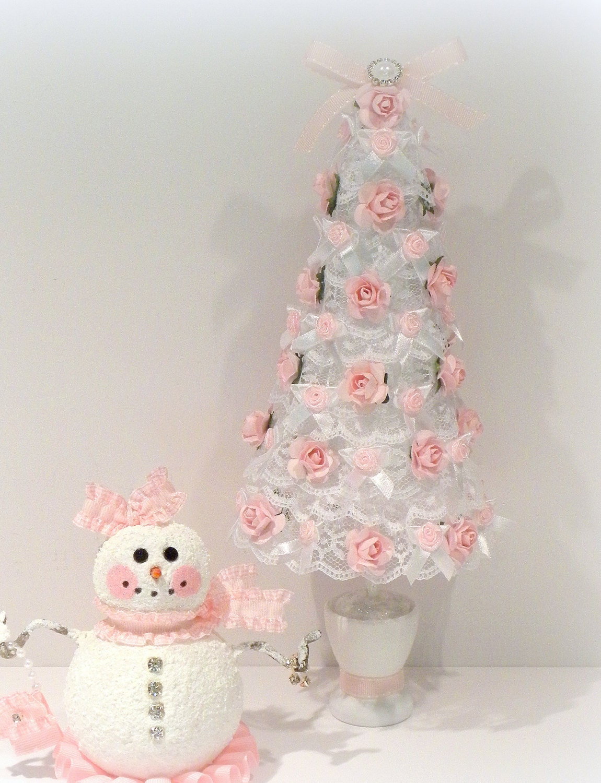 Shabby chic christmas christmas decoration shabby chic tree - Deco table noel chic ...