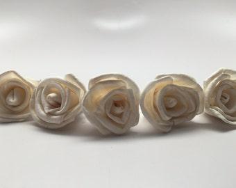 Mini Sola Rose Flowers--- Set of 24 Mini Sola Roses--Wedding balsa flowers
