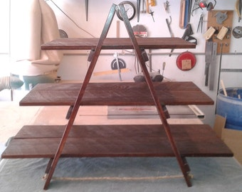 Custom Made Large Rustic A Frame Dessert Stand.  Use for Cupcakes, Donuts, Candy, Petit Fours,  Cookies, Mini Pies,  Whatever!
