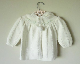 Vintage Soft White Baby Sweater