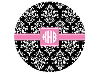 Personalized Round Mousepad Monogram Mousepad- Design your Own- Pick Pattern & Colors