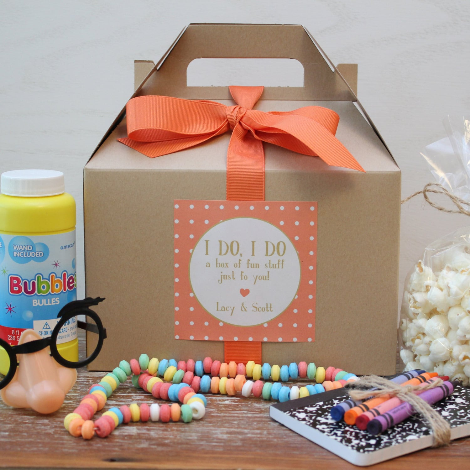 Wedding Ideas For Kids: Set Of 6 Kids Wedding Boxes ANY COLOR // Kids By Thefavorbox