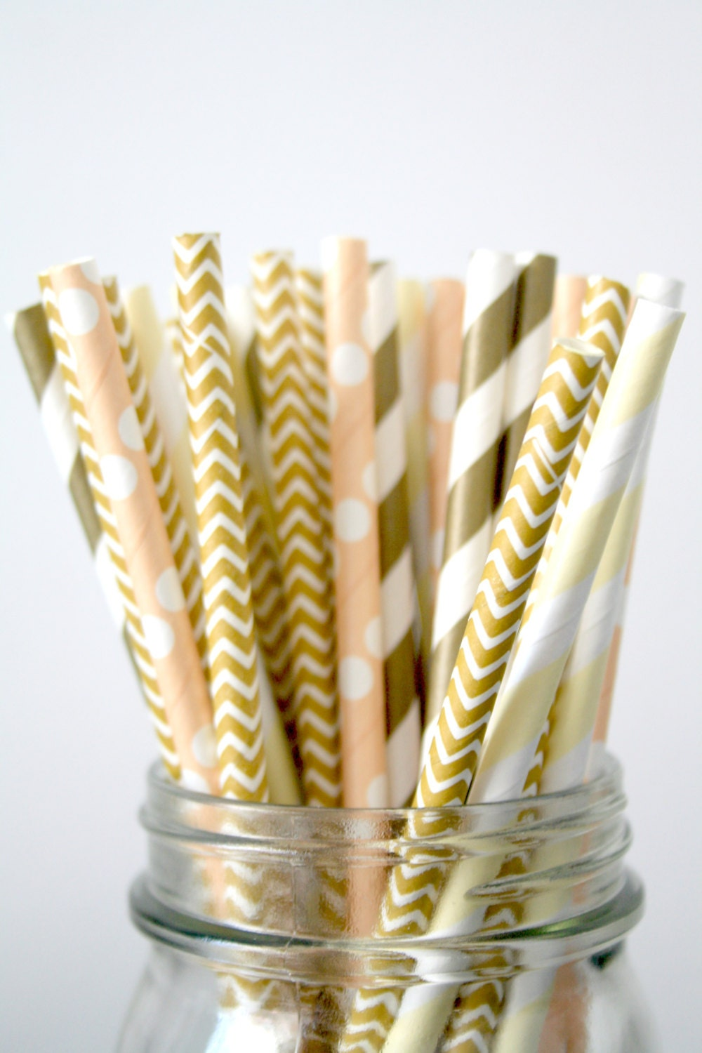 decorative straws for weddings paper straws champagne and gold wedding decor 3463