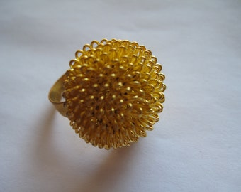 Destash Gold Adjustable Starburst Ring