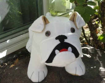 Plush Stuffed Bulldog 3 to choose from or message me about colorful patterned fleece