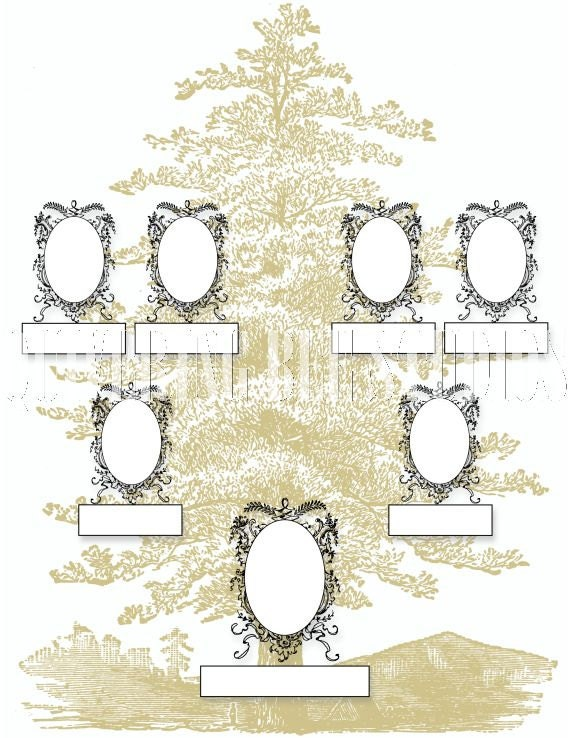 Family Tree Template Digital Download-family tree scrapbooking