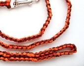Brown and Orange Macrame Leash Pet Dog
