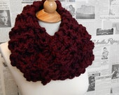 Outlander Inspired Chunky Cowl - Claret