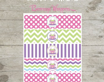 INSTANT DOWNLOAD - Beverage Wrappers - Bounce House Printable