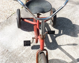 Vintage JUDEZ JOCKEY Children Old Tricycle Chain Drive - Bicycle Bike - Red - Child - Tpt Team - Spring Finds - Outdoor Games