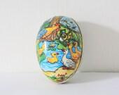 Vintage chocolate Easter egg casing Western Germany 50s