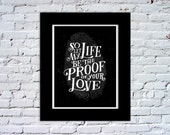 Proof of Your Love Color Print