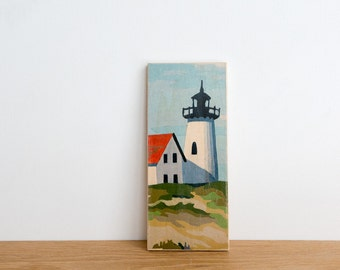 Paint by Number Art Block 'Summer Lighthouse' - seascape, vintage marine art