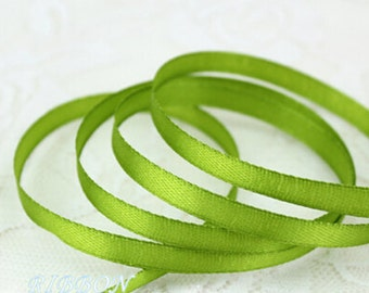 Bright Green  Ribbon Terylen Lace Trim 0.23 Inch Wide 22 meters