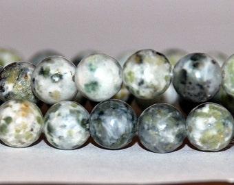 Half Strand 8mm Natural African Jade Gemstone Beads - 24 beads