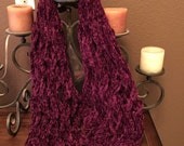 Bohemian Infinity Scarf, hand knitted