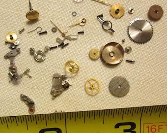 Antique Vintage Watch Parts Jewelry Steampunk Art Supplies (Q)