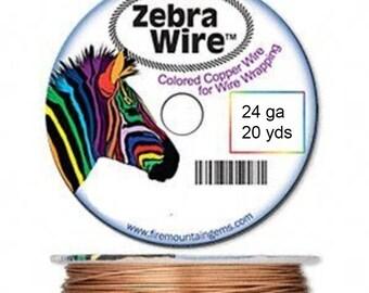 New Zebra color-coated copper wire NATURAL 24 ga 20 yd