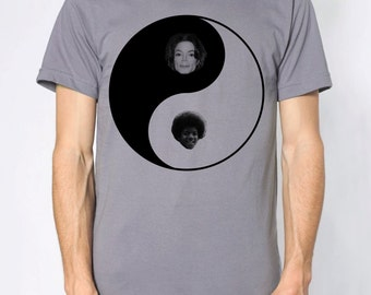 Michael Jackson Yin Yang shirt- American Apparel slate gray- available in s, m, l, xl, xxl- WorldWide Shipping