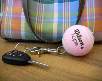 Lost & Find Tennis Ball Keychain - PINK