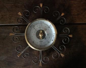 Vintage English Decorative Weather Barometer circa 1970's / English Shop
