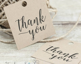 Color Changed - Thank You - Printable Favor Tags - Hand Calligraphy