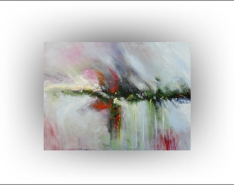 Abstract Flowers Surreal Original Painting Canvas Home and Living Office Wall Decor Home Decor -30 x 40 - Skye Taylor