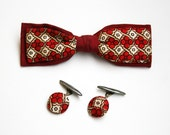 Vintage Bow Tie and Matching Cuff Links