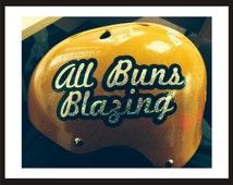 Custom Roller Derby Name & Number Vinyl Sport Helmet Decal 2 Colors