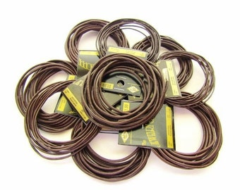 9 Packs of Brown Leather Cord / 1mm and 2mm