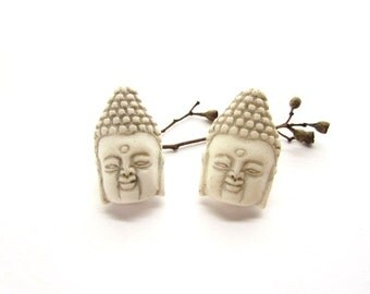 2 Resin Buddha Pendants