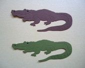 2 Alligator Crocodile Die Cut Embellishments for Scrapbooking Cards Paper Crafts Fully Assembled