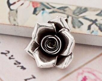 1 of Karen Hill Tribe Silver Rose Pendant 16 mm. :ka3579