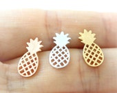 Pineapple Earrings / fruit studs, choose your color, gold, silver, pink