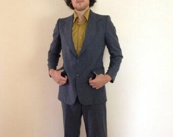 1970's Vintage Men's Pierre Cardin Mod Suit 42 France