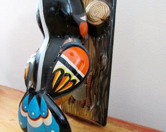 Vintage Tin Woodpecker Toy