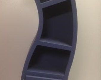 Handmade, 6ft Curved Bookshelf, Blue
