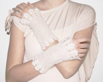 White Bridal Gloves, Fingerless Gloves, Lace Wedding Gloves Fingerless, Arm Warmers, Bridal Lace Gloves, Texting Gloves, Spring Wedding