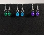 Mini Jingle Bells Christmas Holiday Earrings - Your Choice of Color