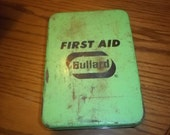 Vintage First Aid kit by Bullard - nice rustic metal look - great display piece!