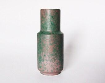 Vintage German Green / Purple Ufo Lava Vase - Gerz (Simon Peter) 60s